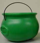 "Cauldron Pot-O-Gold 8"" Green"
